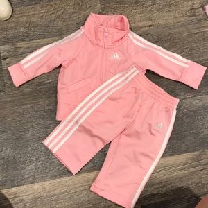 Adidas pink baby track suit